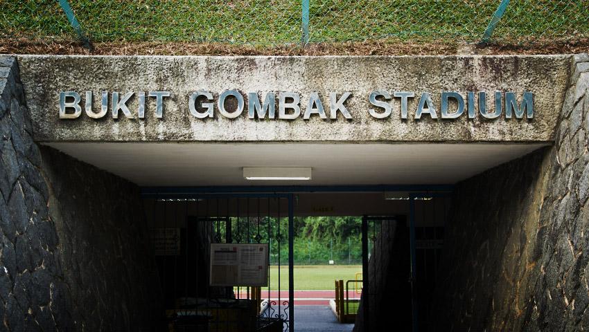 Eingang Bukit Gombak Stadium