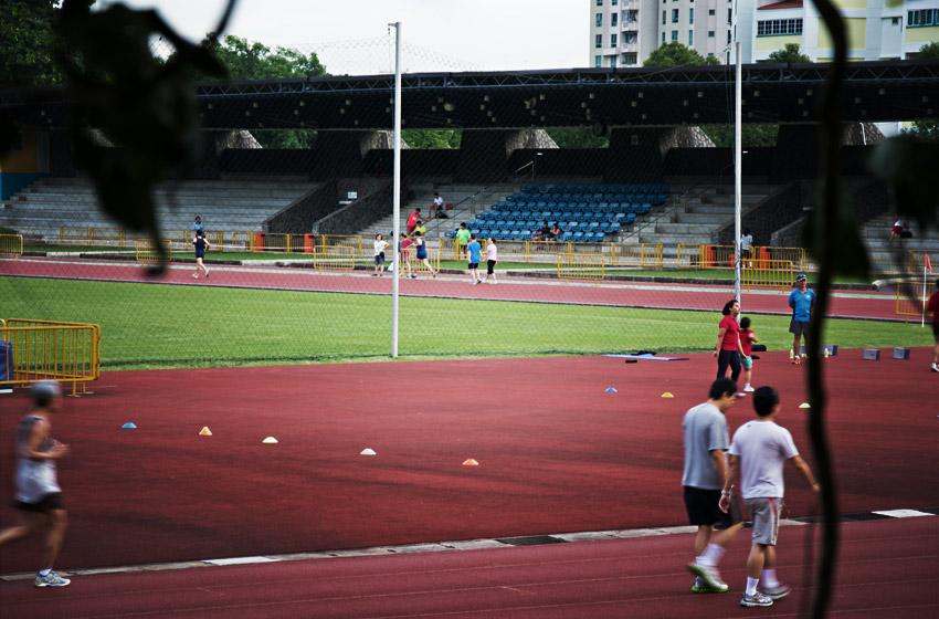 Viele Asiaten sind auch in Bezug auf Sport fleißig