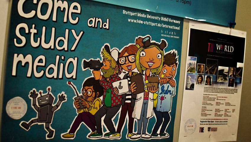 Poster meiner Heimat-Hochschule aus Stuttgart