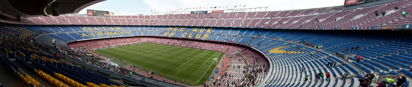 Panorama des Camp Nou