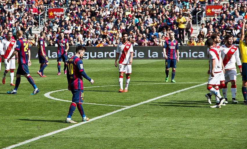 Messi auf dem Weg zum Strafstoß