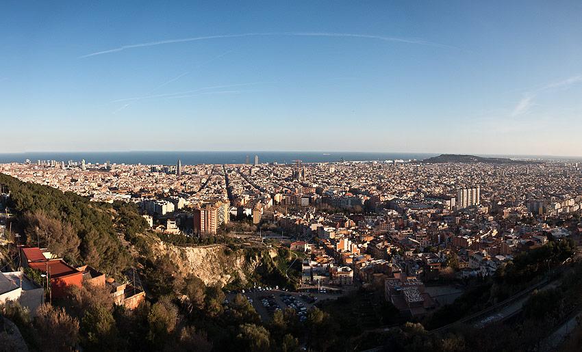 Blick über die Dächer Barcelonas