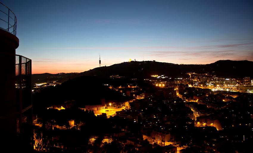 Sonnenuntergang über Barcelona