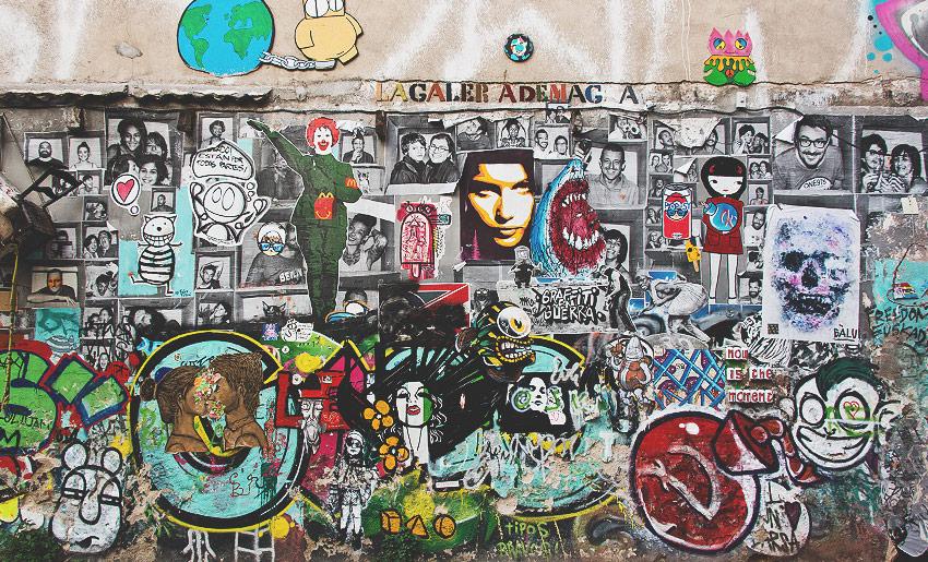Die Stadt besticht ähnlich wie Paris durch viel Streetart und Graffiti