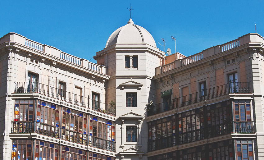 Überall gibt es tolle Architektur in Barcelona