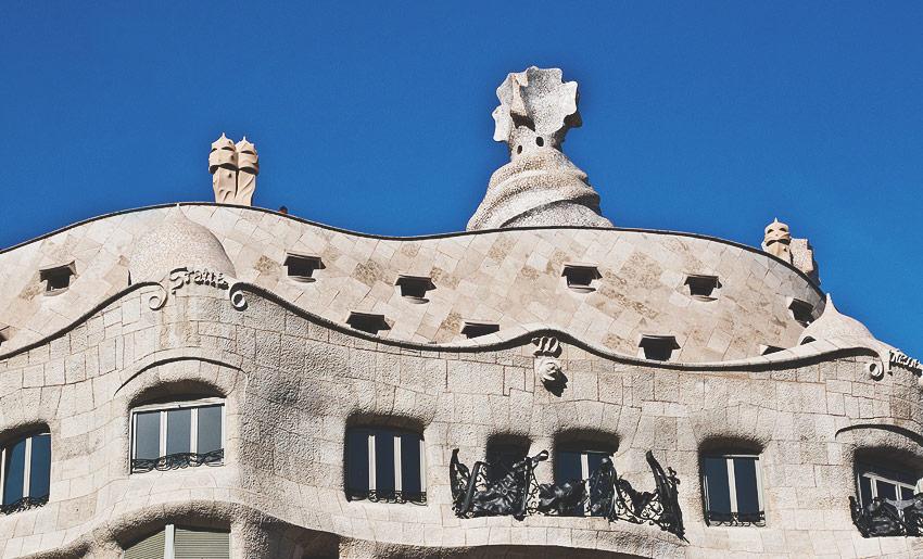 Die Casa Milà von Antoni Gaudí
