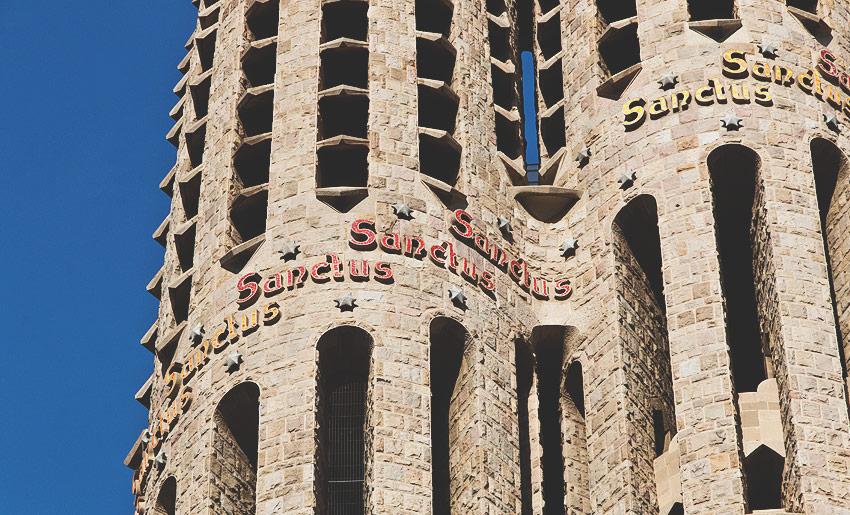 La Sagrada Familia: Dies war so ziemlich der einzig mögliche Ausschnitt ohne Gerüst