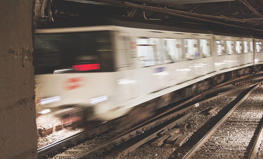 Die Metro eignet sich wunderbar als Fortbewegungsmittel