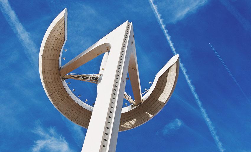 Der Torre de Collserola am Olympiagelände