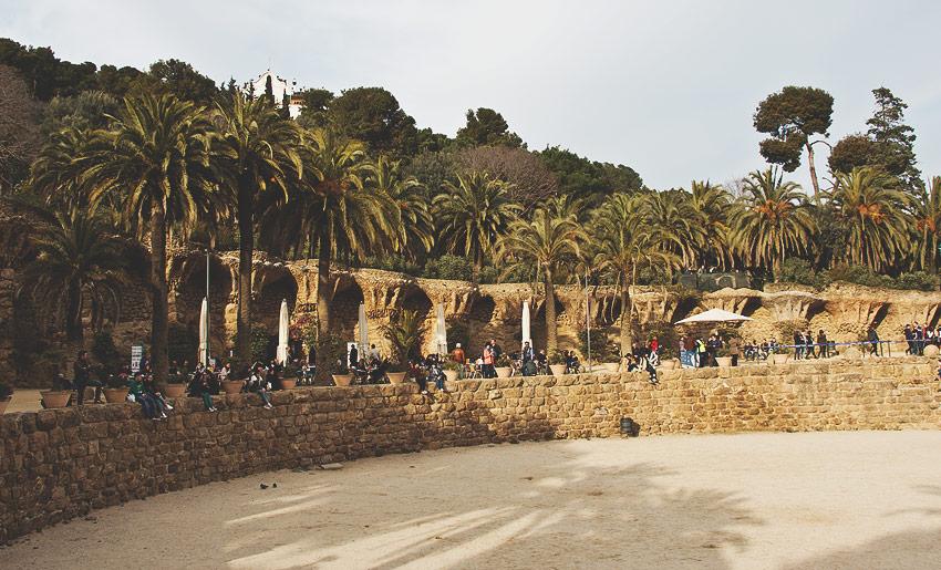 Parc Güell: Der obere Bereich ist frei zugänglich