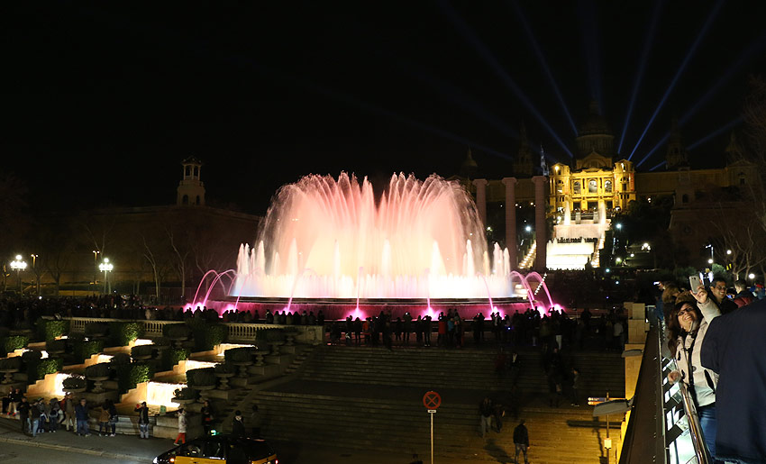 Die Wasserspiele am Museu National d'Art de Catalunya