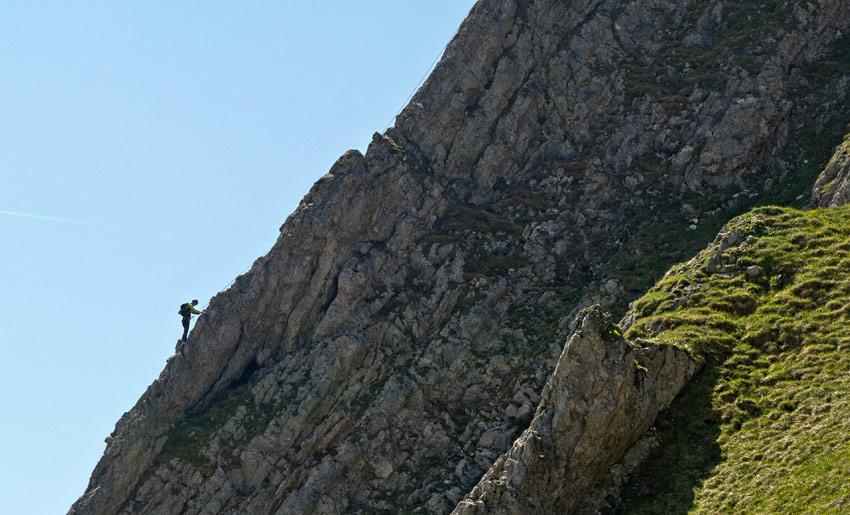 Kletterer am Aggenstein