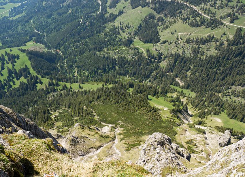 Blick runter vom Aggenstein