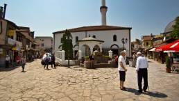 Die Altstadt von Skopje in Mazedonien