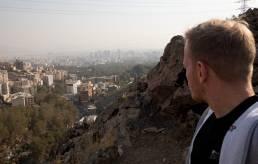 Blick von den Bergen auf Teheran