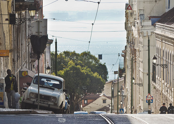 In den Straßen von Lissabon
