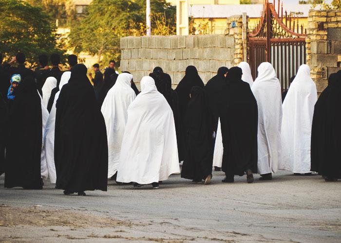 Frauen im Tschador