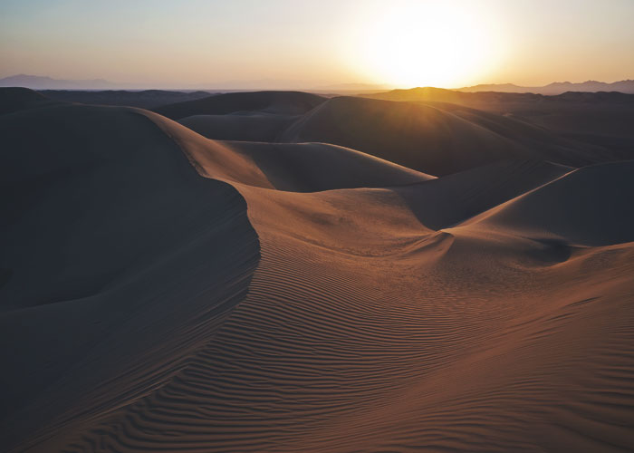 Sonnenuntergang bei Varzaneh