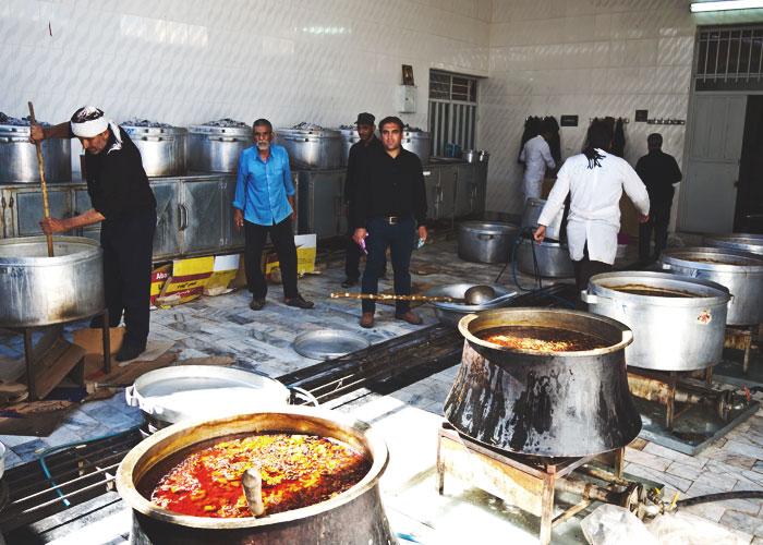 Die Küche in der Moschee