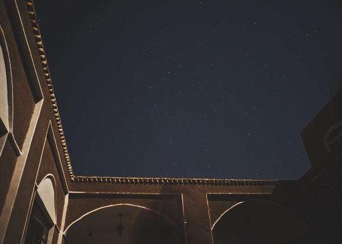 Sternenhimmel über dem Yasna Guesthouse