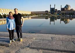 Aylin und ich auf dem Naqsch-e-Dschahan-Platz