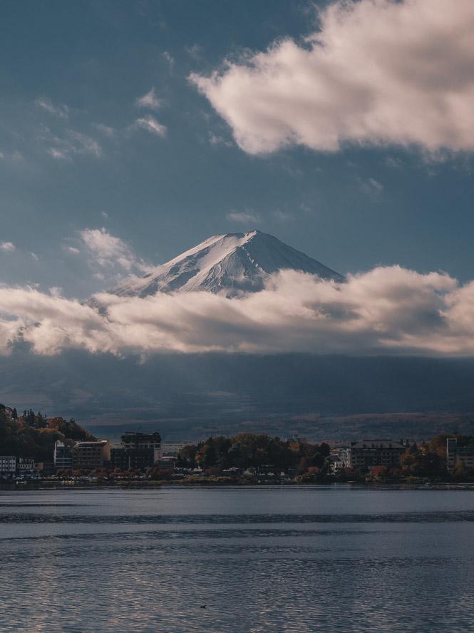 Blick auf Mount Fuji