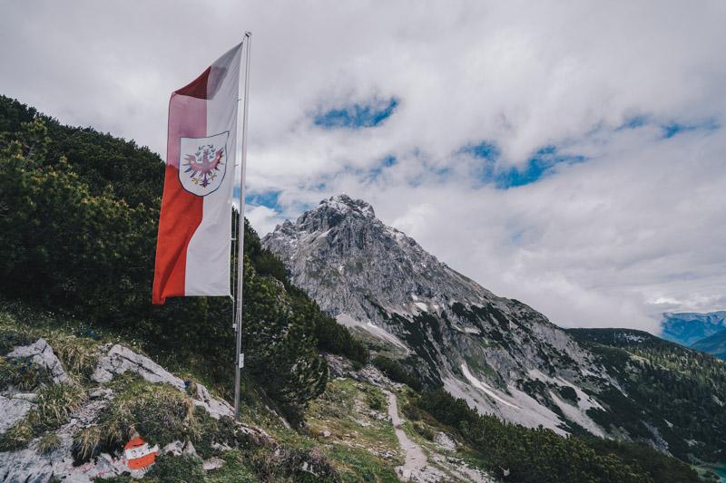 Blick von der Coburger Hütte in Österreich