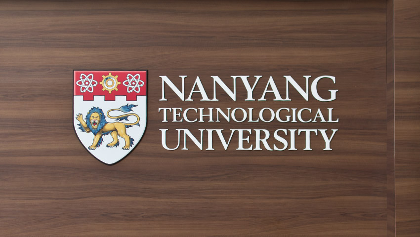 Das Logo der NTU Singapur
