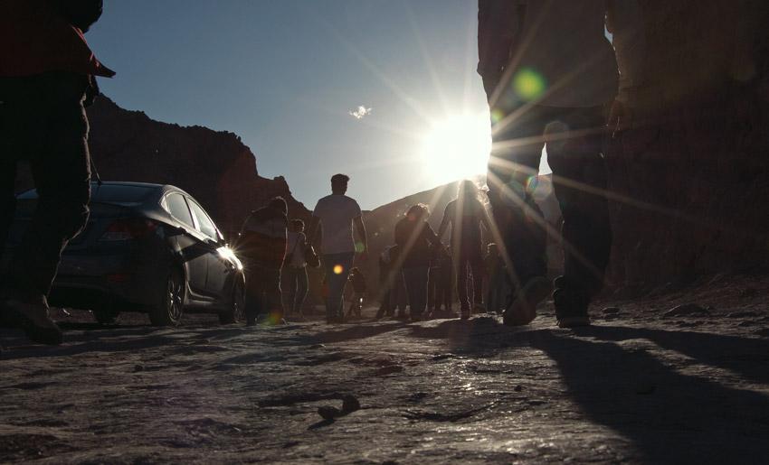 Reisegruppe im Valle de la Muerte