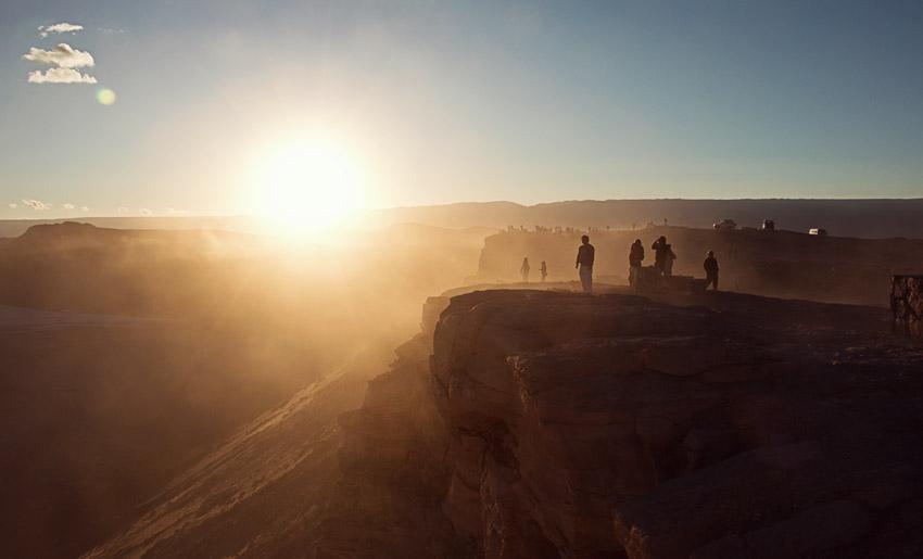 Sonnenuntergang Valle de la Luna / Valle de la Muerte
