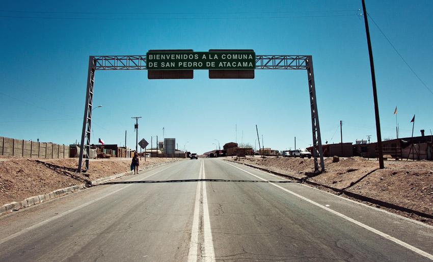 Ortseinfahrt San Pedro de Atacama