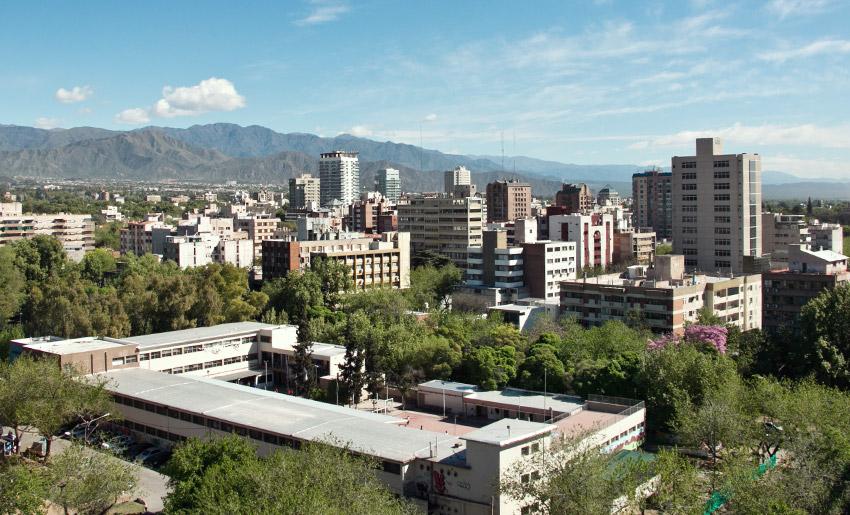 Blick vom Rathaus in Mendoza