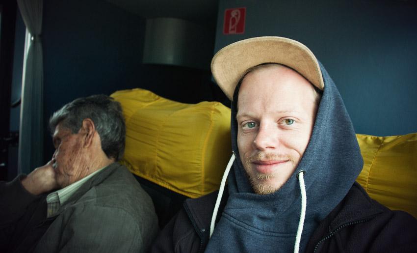 Im Bus inkl. chilenischem Sitznachbarn