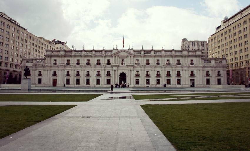Der Präsidentenpalast in Santiago