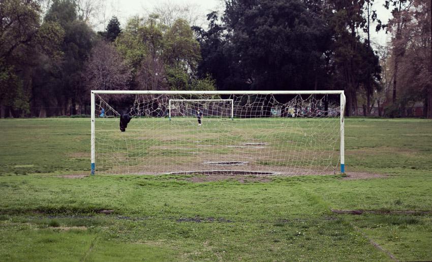 Fußballplatz in Santiago