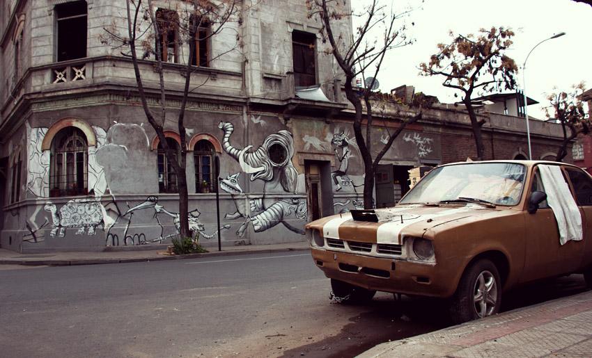 Streetart in Santiago (Barrio Brasil)