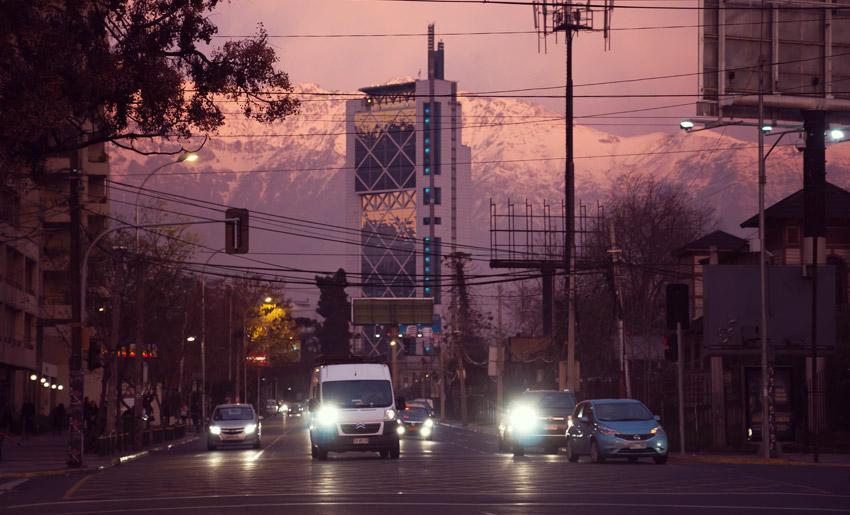 Sonnenuntergang in Santiago