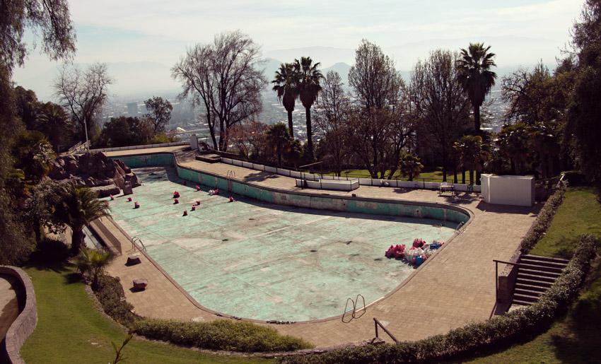 Leider zu der Zeit geschlossen: Schwimmbad am Cerro San Cristóbal