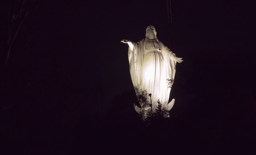 Cerro San Cristóbal: Statue der Jungfrau Maria