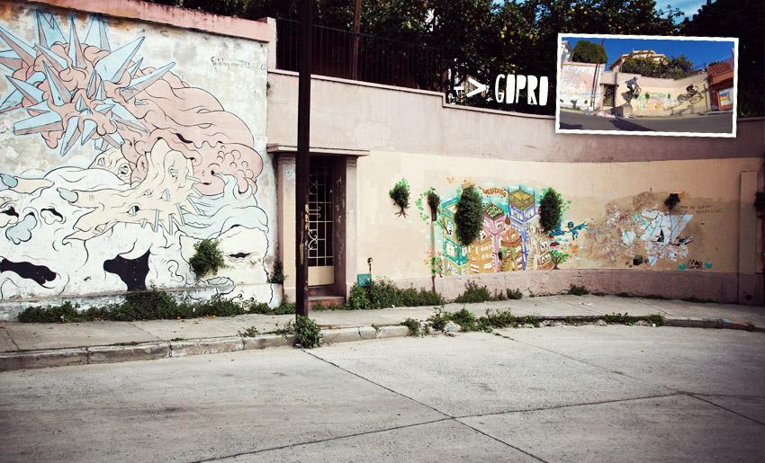 Valparaíso, die Wand ist bekannt aus dem hier verlinkten GoPro-Video