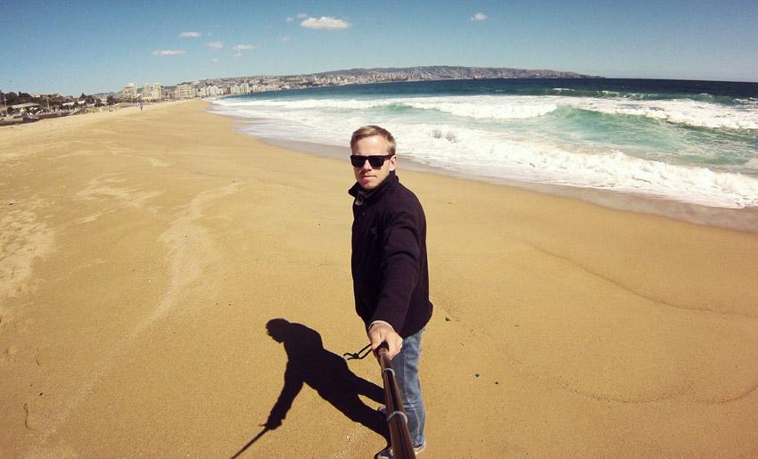 Am Strand von Viña del Mar
